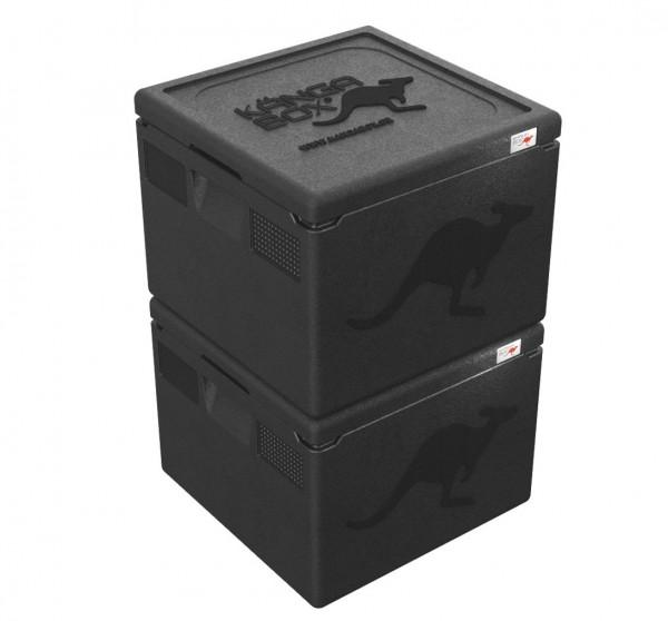 2x KÄNGABOX® Easy - 41x41 cm - 32 Liter Inhalt